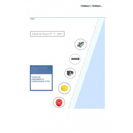 Tabela 1 - Tubo PVC e Corrugado