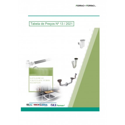 Tabela 13 - Lava-loiças, Jolyflex, Sifões Tecnoágua e H2Out