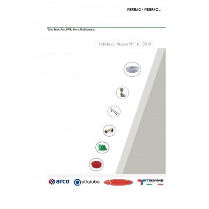 Tabela 16 - Inox Sanitário, PPR, Pex,Multicamada