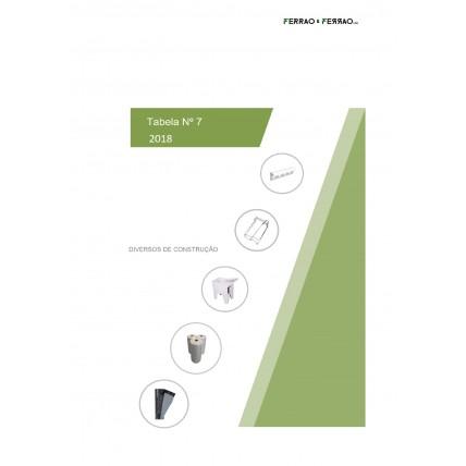 Tabela 7 - Diversos para Construção